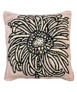 Bloomers 2 20 x 20 Hooked Decorative Pillow - $80.00