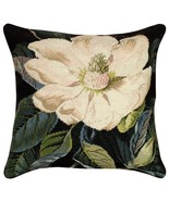 Magnolia 18 x 18 Needlepoint Pillow - $140.00