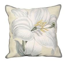 White Lily Decorative Pillow - $140.00