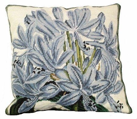 Agapanthus 18 x 18 Needlepoint Pillow