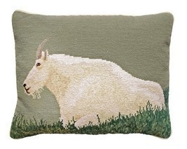 Mountain Goat 16x20 Needlepoint Pillow - ₨9,376.55 INR