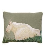 Mountain Goat 16x20 Needlepoint Pillow - £106.26 GBP