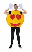 Emoji Hearts Smiley For Unisex Adult Polyester Costume Machine Washable - $22.77