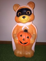 "Vintage Empire 23"" Halloween Lighted Blow Mold Bandit Bear Yard Decorati... - $69.29"