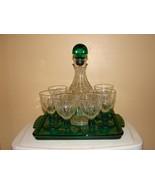 Glassware -Vintage Avon Decanter and Cordial Glass Set - $60.00