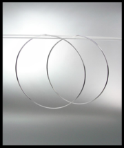 """CHIC Lightweight Thin Silver Continuous INFINITY 1 3/4"""" Diameter Hoop Earrings  - $13.99"""