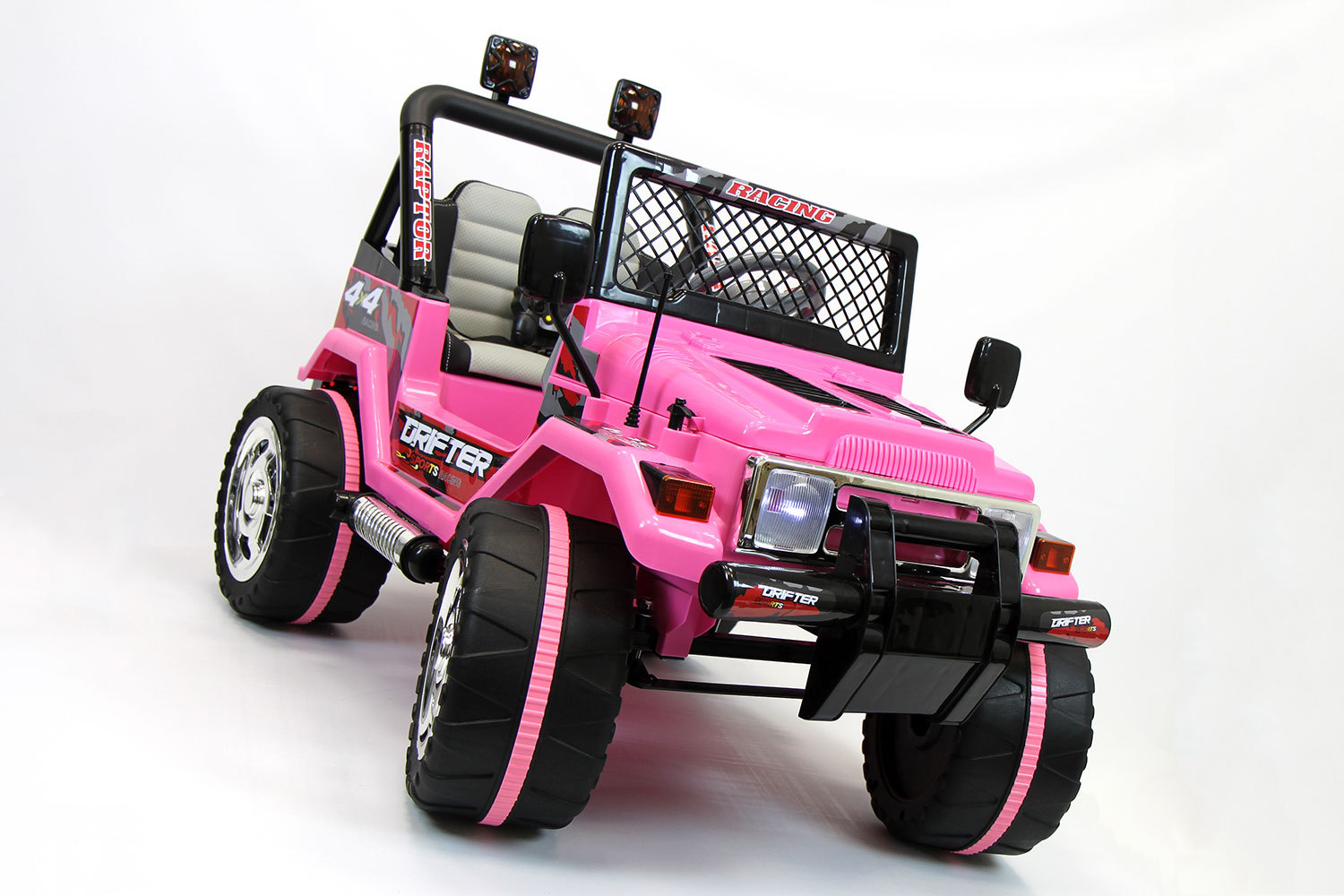 Jeep Wrangler Style 12v Kids Ride On Car Mp3 Battery Powered Wheels Rc Pink Ride On Toys
