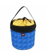 Blue Building Blocks LEGO Bricks Travel Storage Cinch Bucket Tote Toy Or... - $37.52