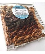 Brown French Silk Set Limited Edition Collection cross stitch Kreinik  - $19.80
