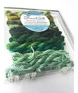 Green French Silk Set Limited Edition Collection cross stitch Kreinik  - $19.80