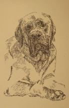 MASTIFF DOG ART PORTRAIT PRINT #40 Kline adds y... - $49.45