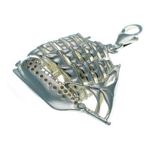 Sterling 925 British Silver Sailing Ship Frigate Clip Charm by Welded Bliss - $37.19