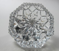 Signed Waterford crystal diamond paperweight glass - $26.84