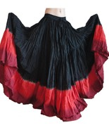 Belly dance Gypsy skirt Black/red - $31.36