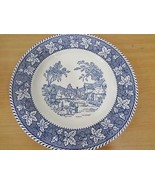 """Stratwood Collection Shakespeare Country Blue Plate Homer Laughlin Ohio 10"""" - $24.01"""