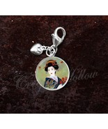 925 Sterling Silver Charm Geisha Japanese Culture Art - $29.21