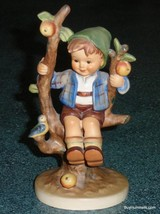 "LARGE ""Apple Tree Boy"" With Bird Goebel Hummel Figurine #142/I TMK3 Vintage Gift - $126.09"