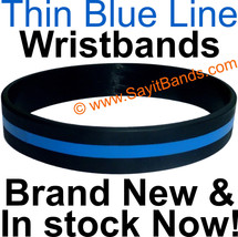 10 Thin Blue Line Wristband Bracelets Police Officers Patrol Awareness Support - $12.88
