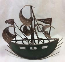 Sculpture Wall Art Metal Ship - $14.95