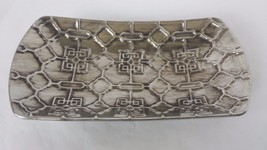 Decorative Metal Tray Square Chain Link - $19.79