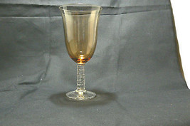 Vintage Lovely Amber/Clear Glass Set of Three Ice Tea Beverage Glasses 8... - $16.82