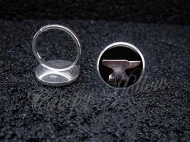 925 Sterling Silver Adjustable Ring Anvil Black Smith Metal Working - $34.65