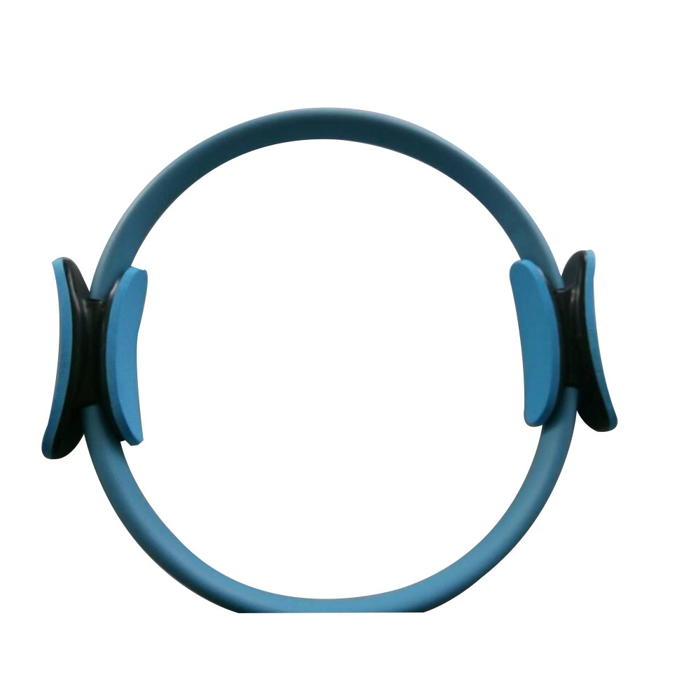 """14"""" Black Pilate Ring Circle Exercise Fitness Weight Loss Blue"""