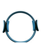 "14"" Black Pilate Ring Circle Exercise Fitness Weight Loss Blue - £14.83 GBP"