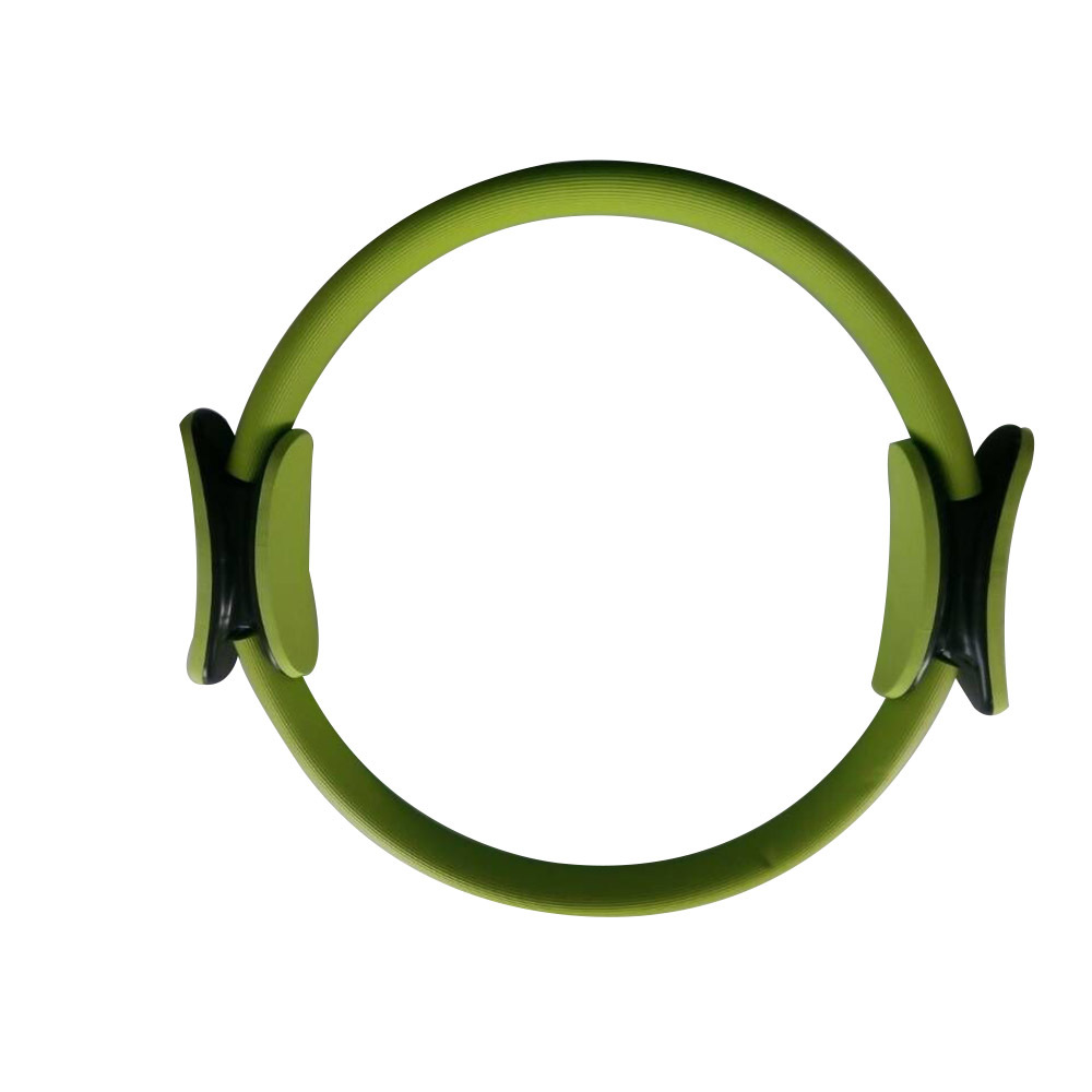 """14"""" Black Pilate Ring Circle Exercise Fitness Weight Loss Green"""