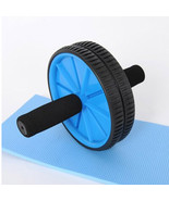 Abdominal Sport Training Wheel Roller BodyBuilding Fitness Exerciser Blue - $25.19