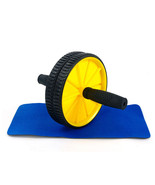 Abdominal Sport Training Wheel Roller BodyBuilding Fitness Exerciser Yellow - $25.19