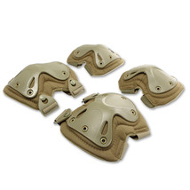the protector tactical protector set camouflage kneelet elbow pad    earth color - $28.99