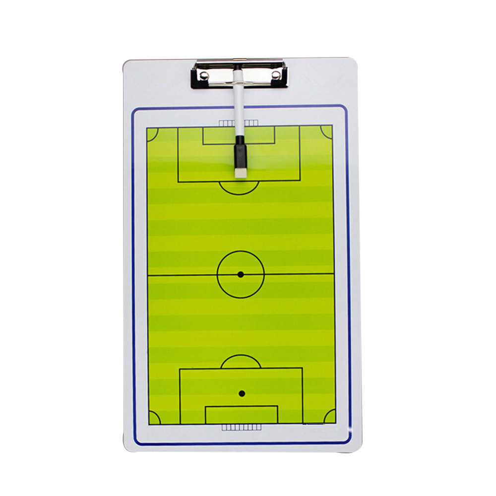 Soccer Double Sided Coach Tactical Board + Marker Pen Football Coaches Aids - $15.99