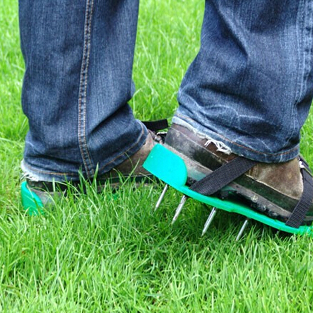 Lawn Aerator Sandals Shoes Grass Spiked Green Gardening Walking