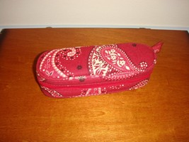 Vera Bradley Mesa Red Zip Eyeglass Case - $18.48