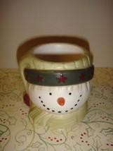 Yankee Candle Snowman Face Votive~Tea Light Holder - $13.49