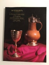 Sotheby's Auction Catalog : Private Collection Of English Scottish Silve... - $19.80