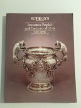 Sotheby's Auction Catalog : Important English Continental Silver / Decem... - $19.80