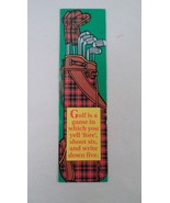 5 NOS Antioch Golfer Golf Humor Bookmark Yell Fore Shoot Six Write Five - $5.30