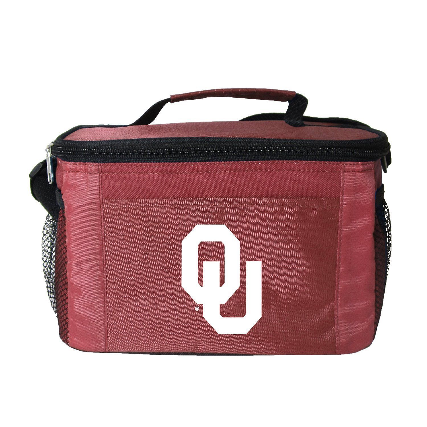 OKLAHOMA SOONERS LUNCH TOTE 6 PK BEER SODA TEAM LOGO KOOLER BAG NCAA
