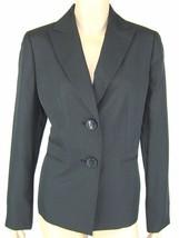Evan Picone Black Blue Stripe Jacket Blazer Siz... - $26.24