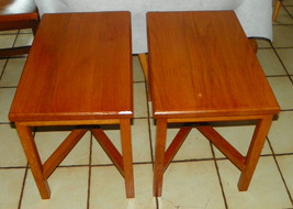 Pair of Solid Oak Side Tables /  End Tables - $399.00