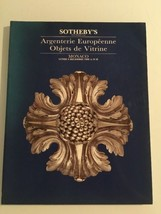 Sotheby's Auction Catalog : Argenterie Europeenne Objects De Vitrine / D... - $19.80