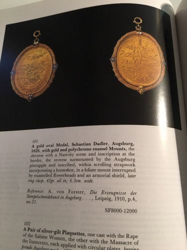 Sotheby's Auction Catalog : European Silver / Geneva May 1988