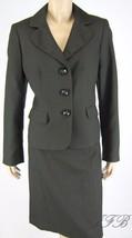 Evan Picone Chocolate Brown Jacket Blazer Skirt... - $62.36