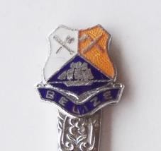 Collector souvenir spoon belize coat of arms cloisonne emblem  1  thumb200