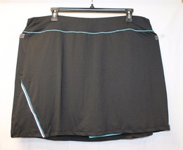 NEW WOMENS PLUS SIZE 4X 26W 28W BLACK & BLUE FAUX SKIRT SKORT COMPRESSIO... - $19.54