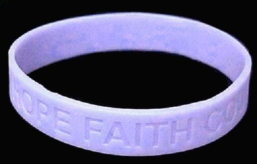 """Periwinkle Awareness IMPERFECT Bracelets 6 Pc Lot Cancer Silicone Wristband 8"""""""