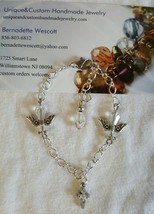 cross and angel holy communion child size glass handmade bracelet sizing... - $7.50