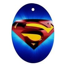 Oval Ornaments - Heroes Superman Procelain Ornament (Oval) Christmas - $3.99